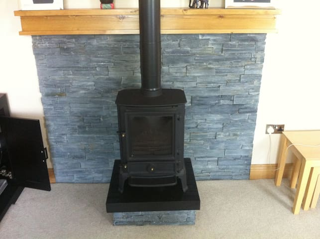 Recently installed stove to make sure everyone remains warm and at ease.