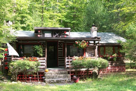 authentic log cabin on the bushkill