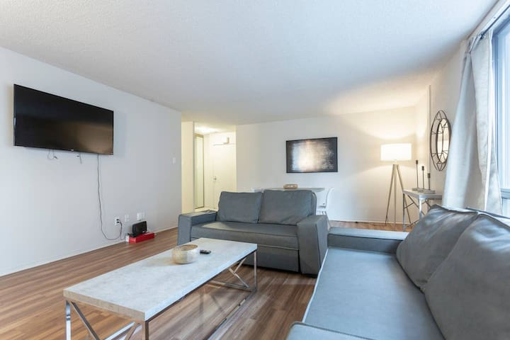 Free parking, Amazing 2-bedroom downtown Montreal