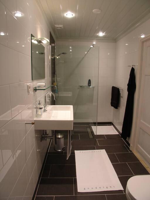 De direct aangrenzende badruimte
