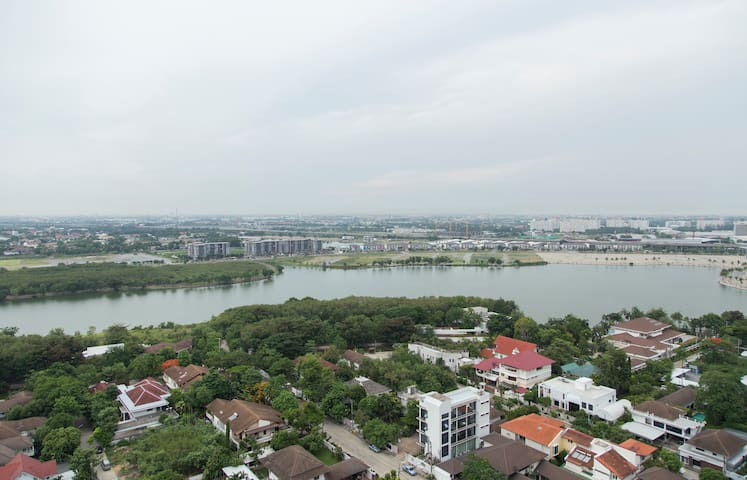 2BR Lakeview Service Apartment. - Pak Kret - Appartement