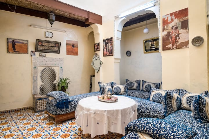 Riad Family Samnoun sunny terrace - Fès - Haus
