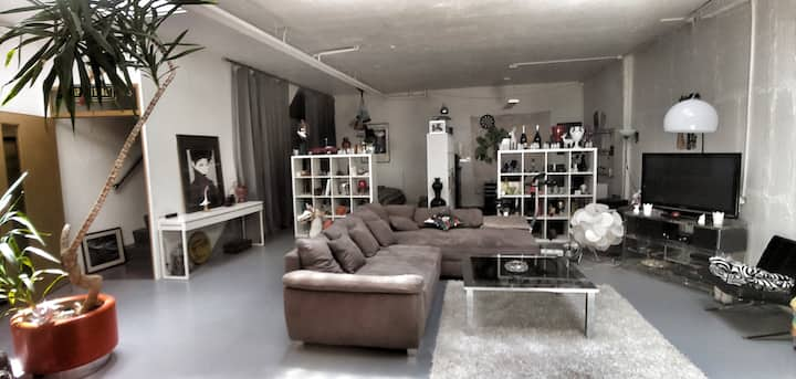Art Loft 180 m² on 2 Floors with Terrace & Garage
