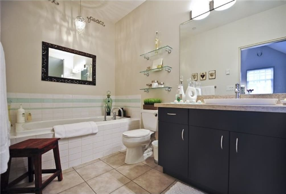 Ensuite bathroom. Full walk in shower in this bathroom as well.