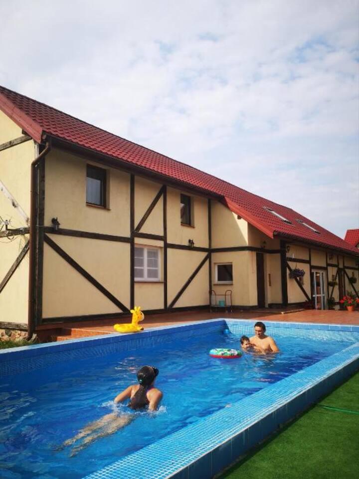 Mazury - dom do wynajęcia dla ośmiu osób