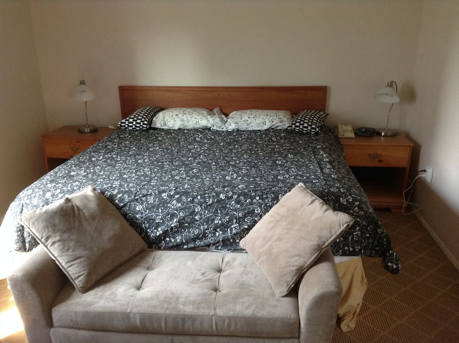 Private king size bed