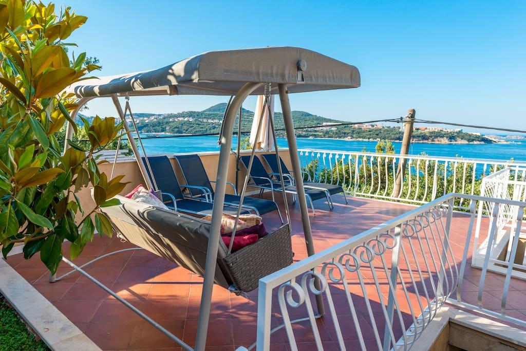 Spacious terrace with sundeck