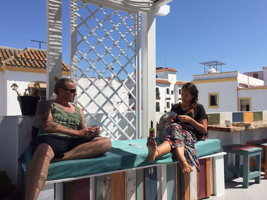 Relax on our beautiful terrace