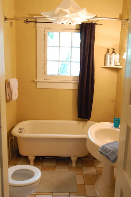 The front bathroom (possibly to be shared with another Airbnb tenant)