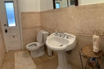 Shared half bathroom