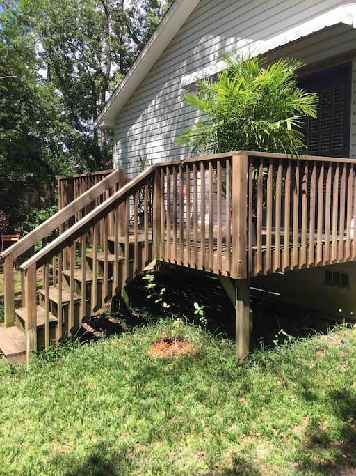Back deck, private entrance