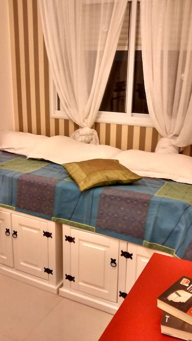 Acomodação confortável, excelente colchão