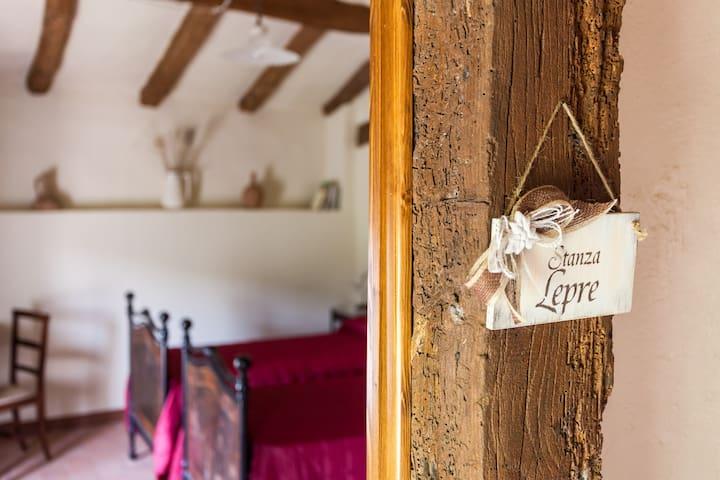 B&B Ca' Bertu' Bedroom Lepre - Valsamoggia Frazione Zappolino - Inap sarapan