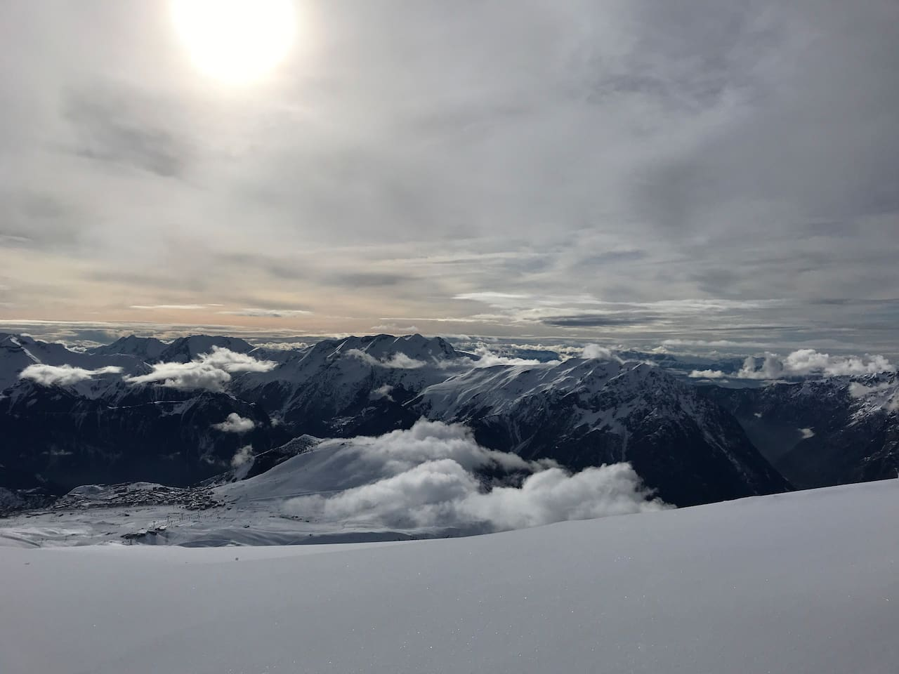The view from Pic Blanc at 3300m