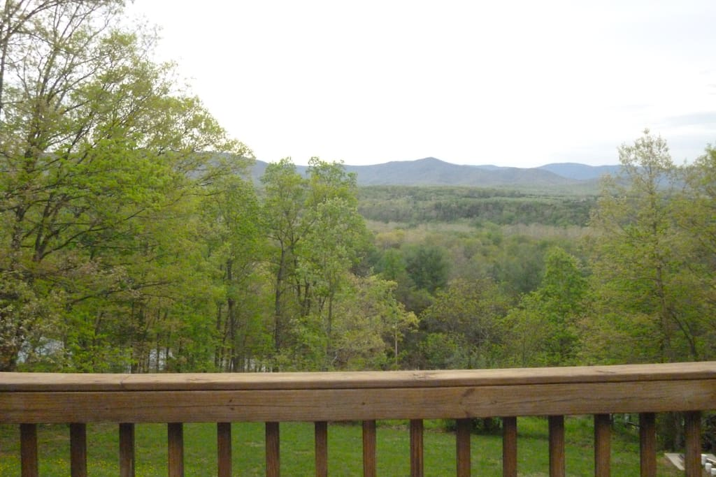 view from the deck off bedroom