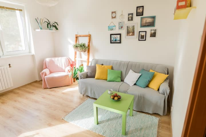 Cosy and quiet flat, 10 mins from the city center