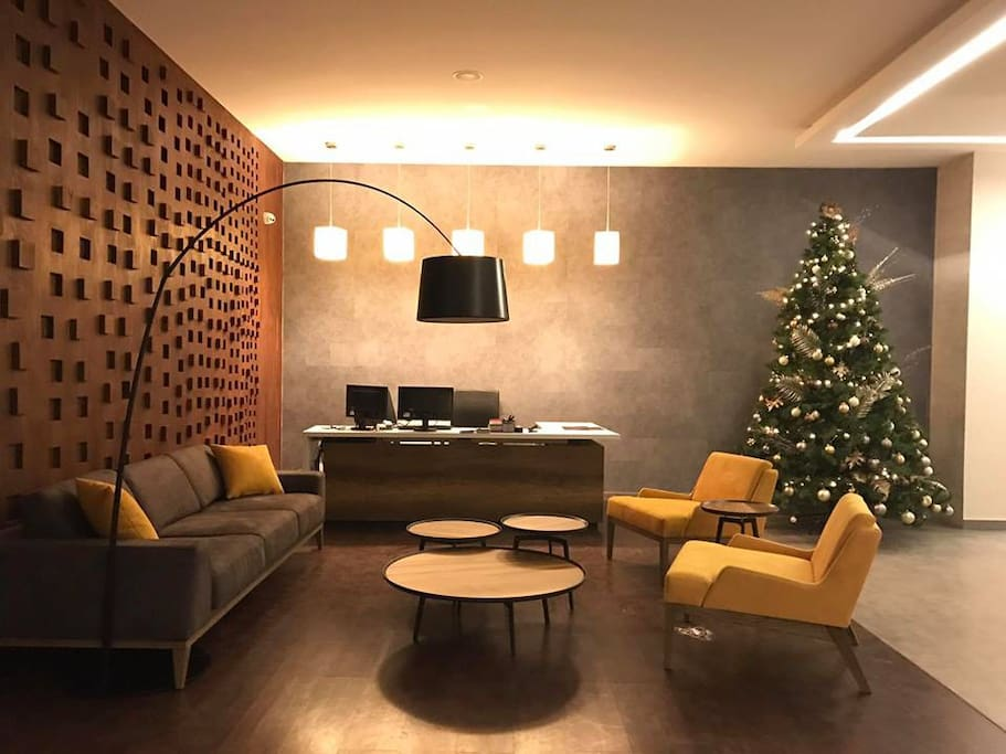 Lobby and concierge desk