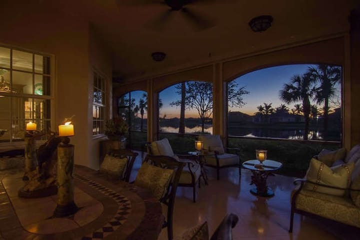 Dusk view from Lanai