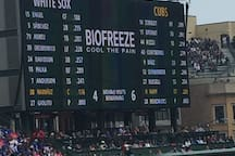 Go to a Chicago Cubs or Chicago White Sox game