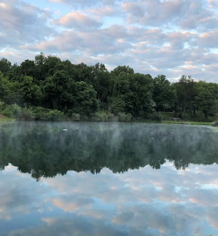 Feel free to enjoy our pond... the pond is stocked with blue gill, bass and catfish...feel free to fish...just throw them back