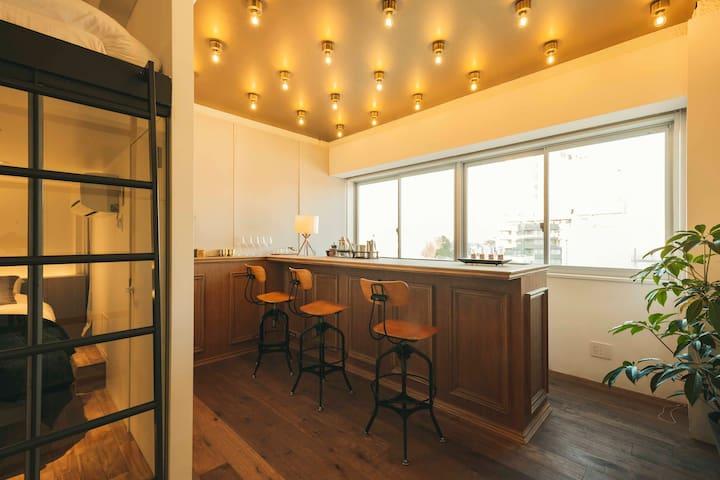 illi Shimokitazawa | Modern room + Bar Space