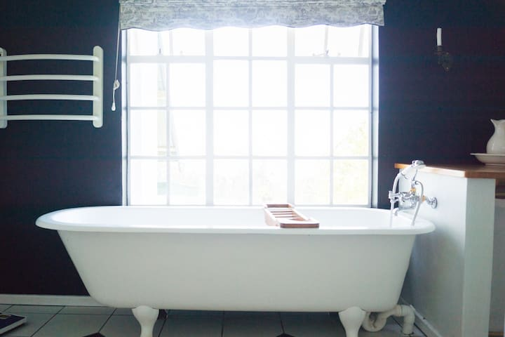 South Room- Victorian bath with a view
