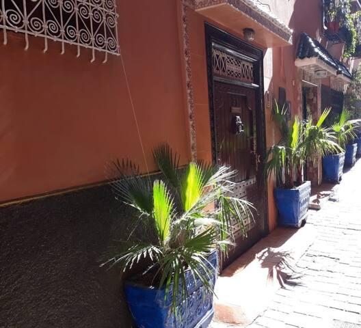 Chambre privée au coeur de la médina, Marrakech..