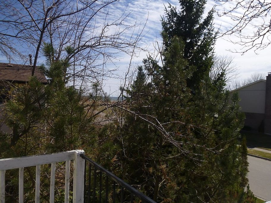 View of Lake Ontario from balcony