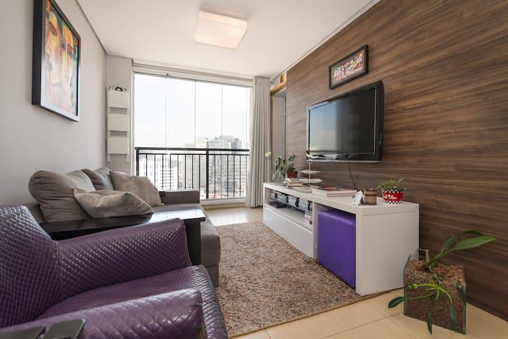 Modern Apartment in Pinheiros - São Paulo - Daire