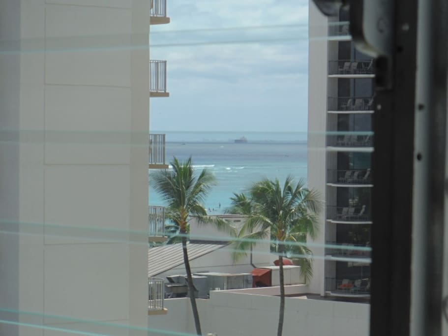 Petite Ocean View from Apt. close up shot