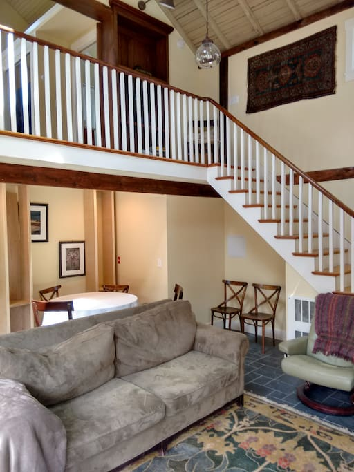 Staircase to bedroom