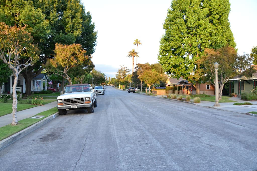 We are located on a quiet cul de sac street in a friendly family oriented neighborhood