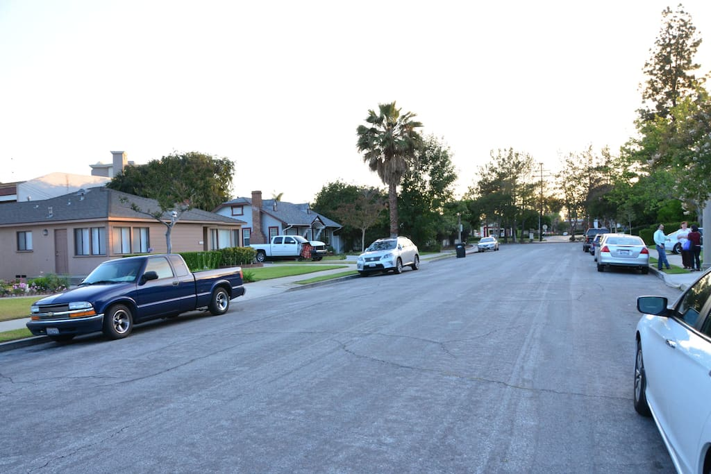 Plenty of street parking for all your cars and trucks