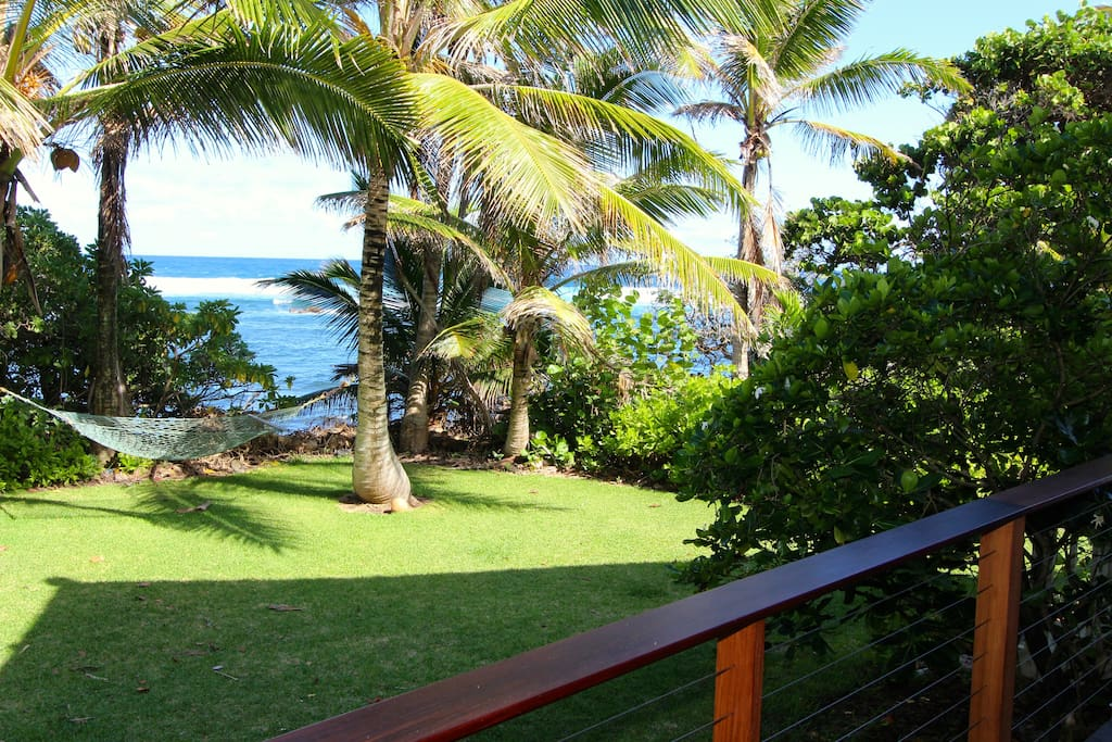 View from master bedroom lanai which connects to main lanai.