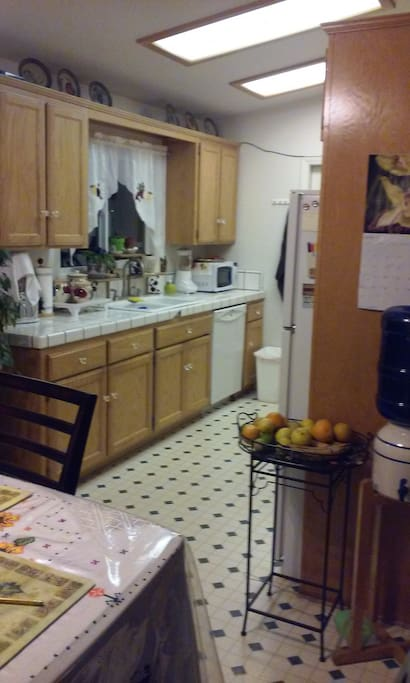 This is the kitchen. La cocina