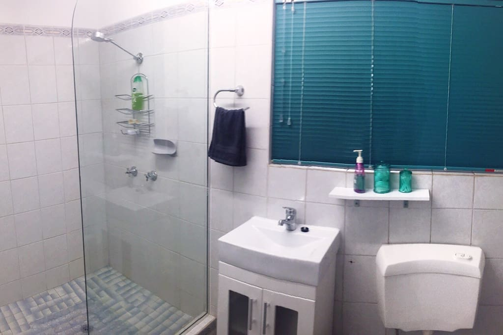 Recently renovated bathroom.