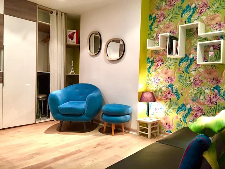 Studio apartment close to Montmartre, Moulin Rouge, Sacré Coeur