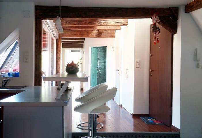 Loft cosy avec terrasse en plein coeur de la ville