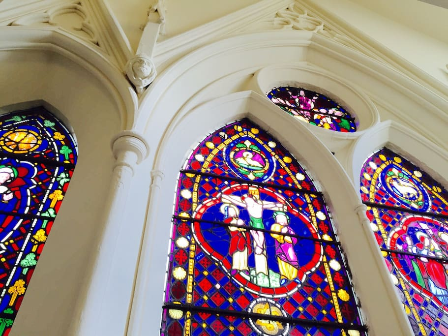 Amazing Stained glass windows of the Church.