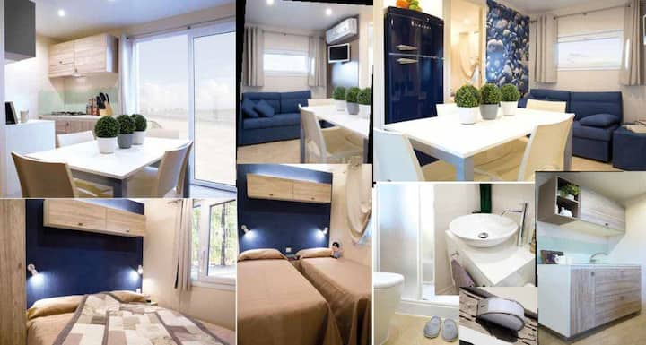 Three-Bedroom Mobile Home with Terrace, Sea View
