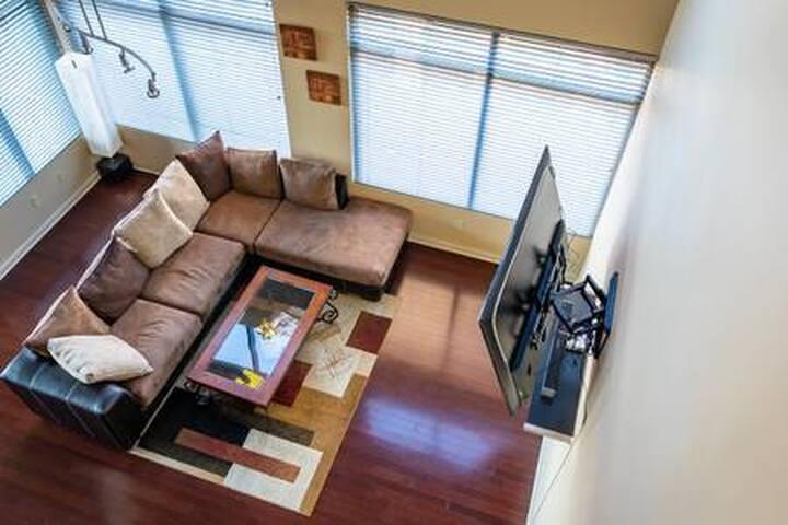 Atlantic Station Loft | Main Level Bedroom