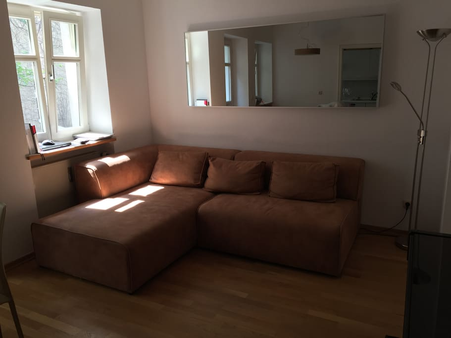 Salon with large couch