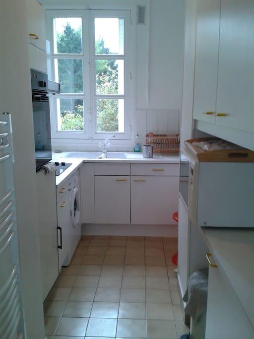 Garden view kitchen