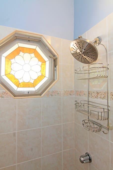 Master Suite Private Bath Shower St Thomas Villa Rental