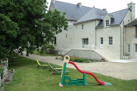 Gîte entre Chinon et Saumur avec grand jardin