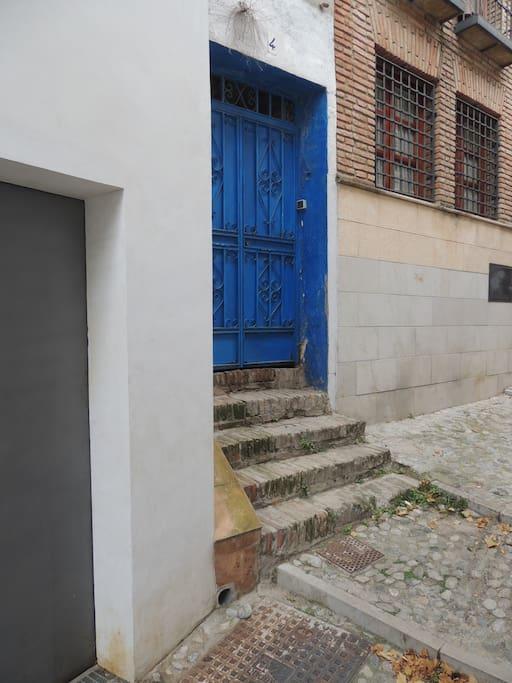 Secure street door