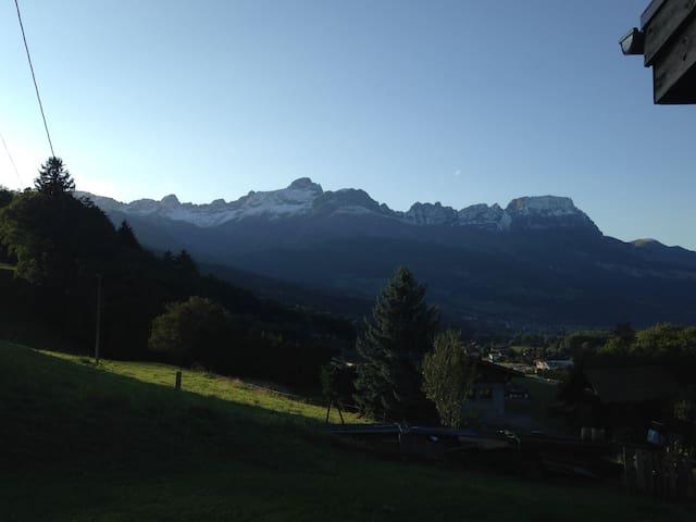 Gîte face au Mont-Blanc