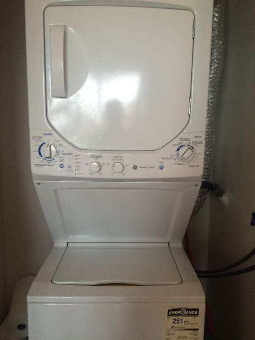 In unit - high efficiency - washing machine and dryer.