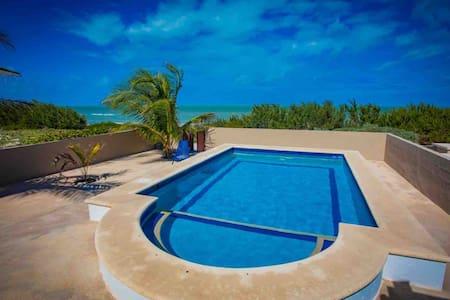 Beautiful Beachfront House in Telchac Puerto