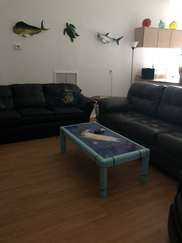 Another view of Living room with sleeper sofa
